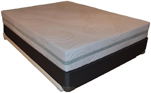 Corsicana 9600 Cool Reflections Queen 9600 Cool Reflections Gel Memory Foam Mattress and Box Spring