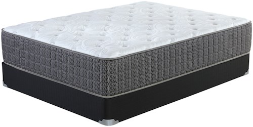 Corsicana Briley Cushion Firm Queen Cushion Firm Pocketed Coil Mattress and Wood Foundation