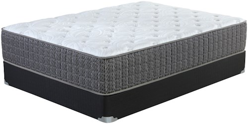 Corsicana Briley Plush King Plush Pocketed Coil Mattress and Wood Foundation