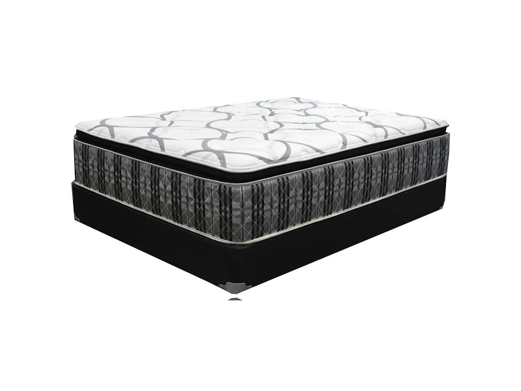 Corsicana Carraway Platinum PTQueen Pillow Top Mattress Set