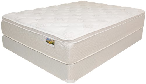 Corsicana Marquis Full Euro Top Memory Foam Mattress and Box Spring