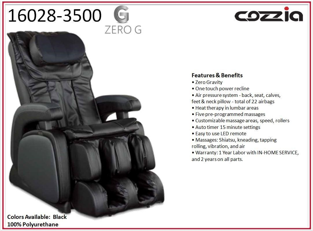 zero gravity reclining massage chair with heat therapy and remote control by cozzia