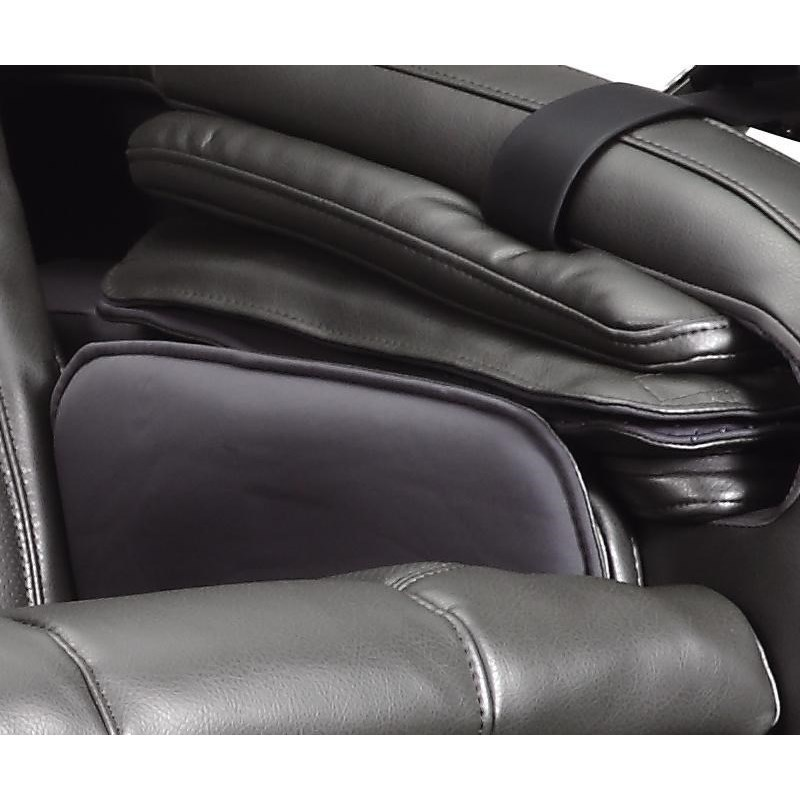 ec ec618 graphite reclining 3d massage chair by cozzia