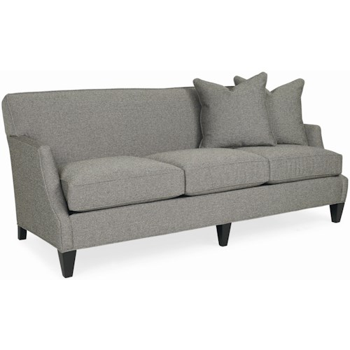 C.R. Laine 6410 Casual Tight Back Sofa with Accent Pillows