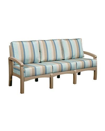 C.R. Plastic Products Bay Breeze Patio Sofa With Cushion   Dunk U0026 Bright  Furniture   Outdoor Sofa