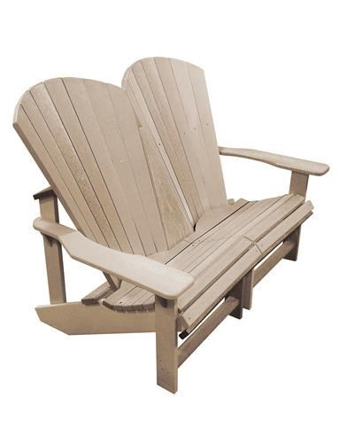 C.R. Plastic Products AdirondackAddy Outdoor Loveseat
