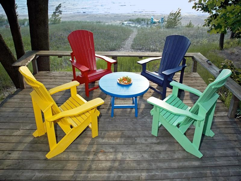 Beau C.R. Plastic Products AdirondackAdirondack Chair; C.R. Plastic Products  AdirondackAdirondack Chair ...