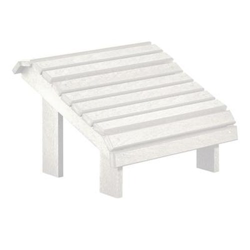 C.R. Plastic Products Adirondack - White Footstool
