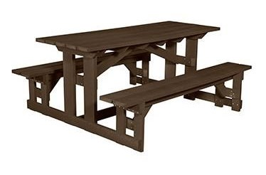 CR Plastic Products Generation Line T Rectangular Picnic - Plastic bench that turns into a picnic table