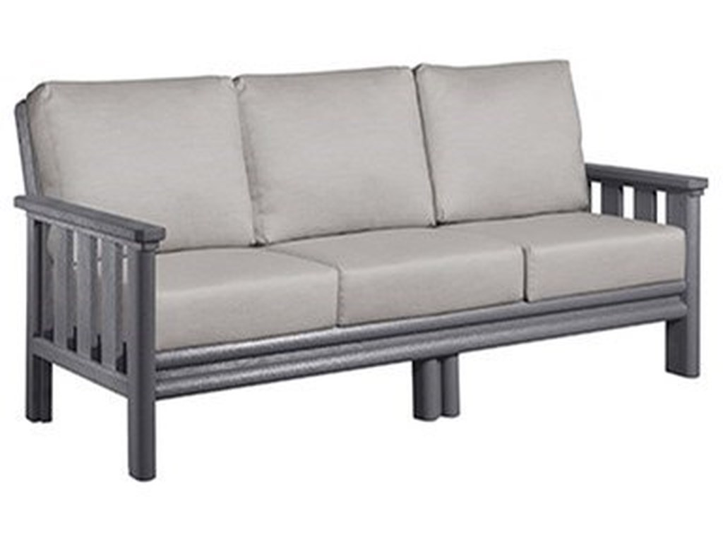 C.R. Plastic Products Stratford DS Outdoor Sofa with Cushions | Dunk ...
