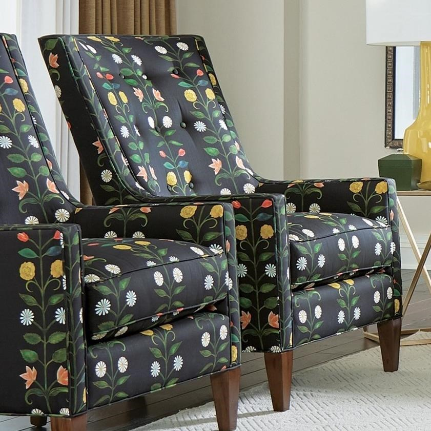 Transitional Tufted Accent Chair