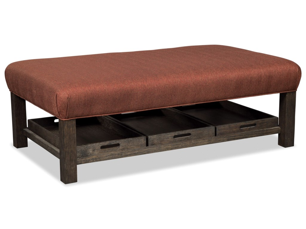 Craftmaster 034300Storage Bench Ottoman with Tray Storage