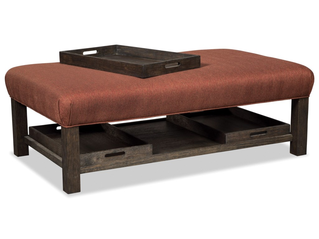 Hickorycraft 034300Storage Bench Ottoman with Tray Storage