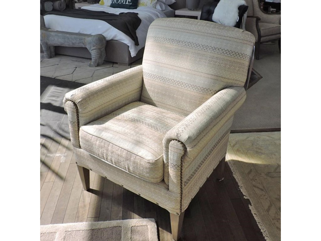 Craftmaster 042410Camelback Accent Chair with Two Patterns of