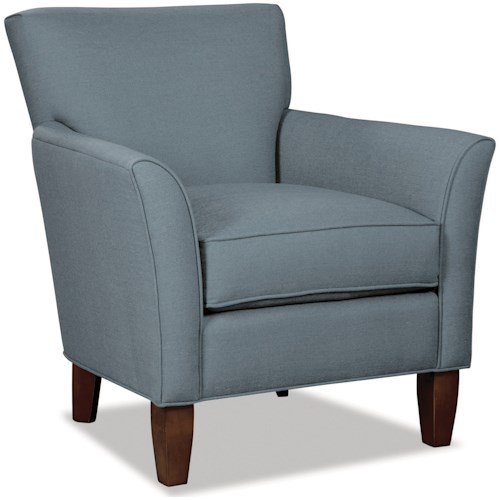 Hickorycraft 060110 Contemporary Flare Arm Accent Chair