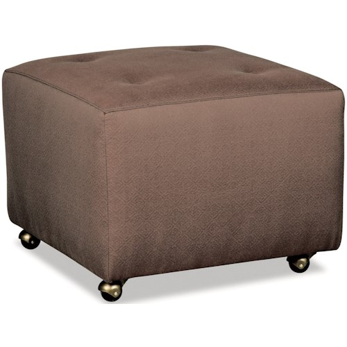 Craftmaster 062100 Tufted Accent Ottoman with Casters
