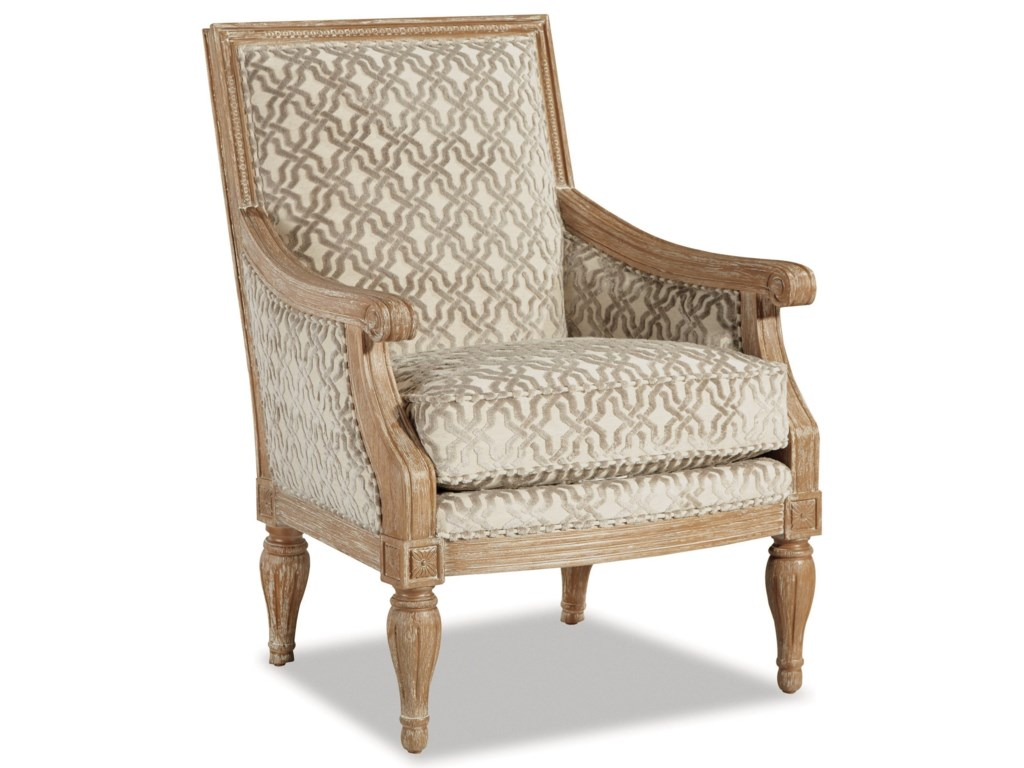 Craftmaster 063810Upholstered Exposed Wood Frame Chair