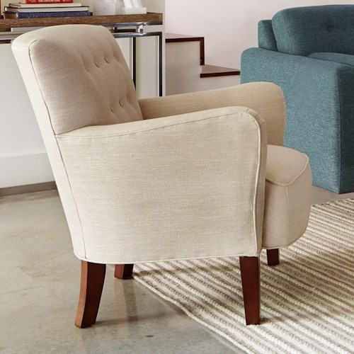 Hickory Craft 066510 Accent Chair with Tufted Back