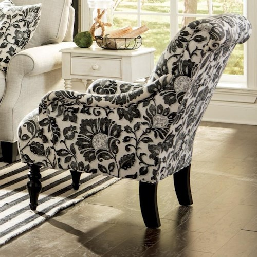 Craftmaster 069410 Traditional Chair with English Arms and Scrolled Back