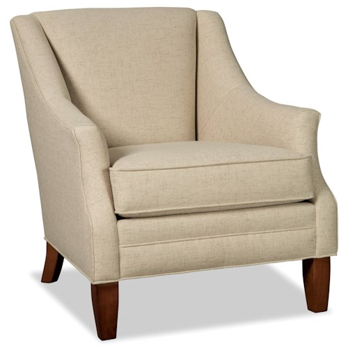 Craftmaster 073910 Accent Chair with Flare Tapered Arms