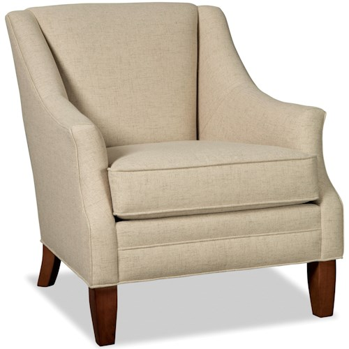 Hickory Craft 073910 Accent Chair with Flare Tapered Arms