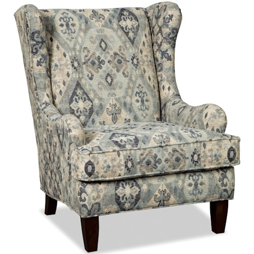 Craftmaster 074710 Transitional Wing Chair