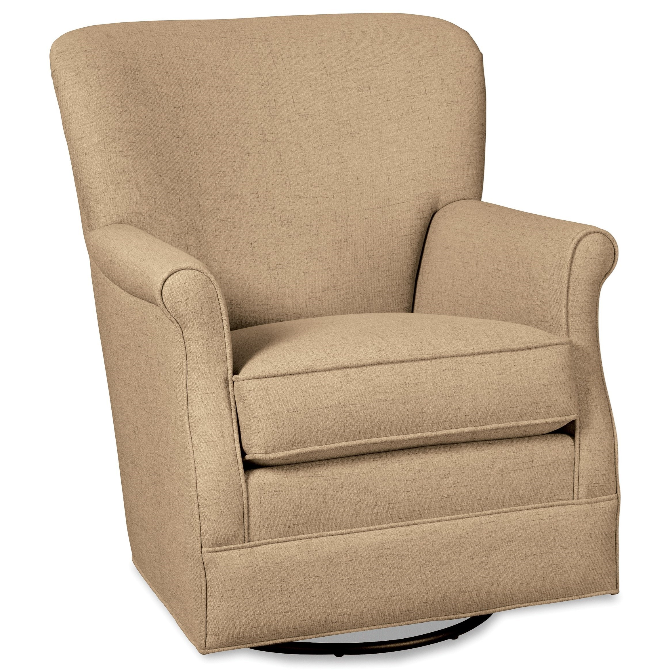 Swivel Glider Chair with Classic Rolled Arms