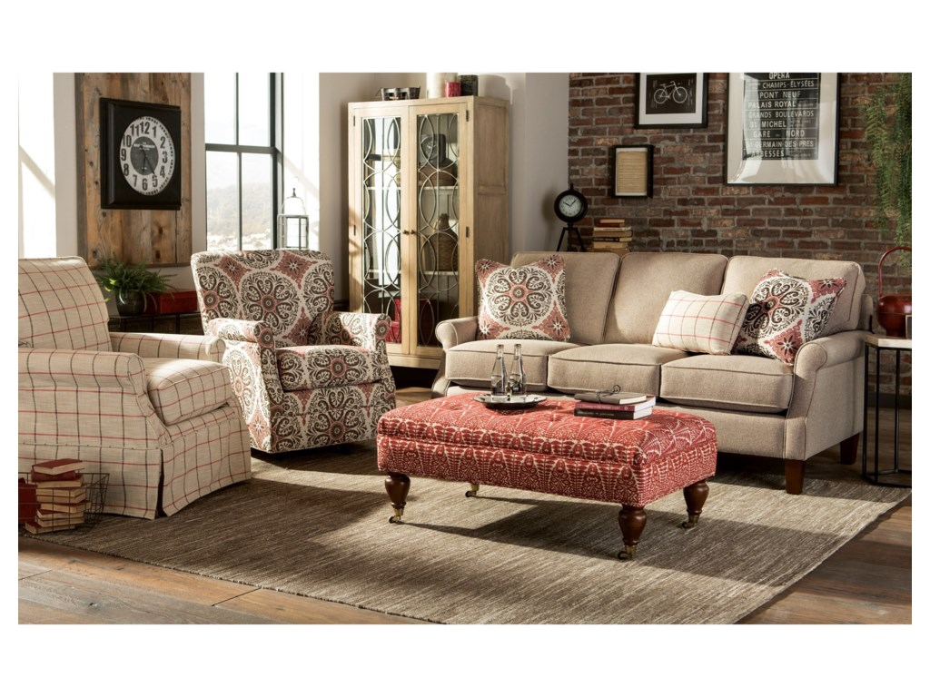 Hickorycraft 075300Ottoman w/ Casters