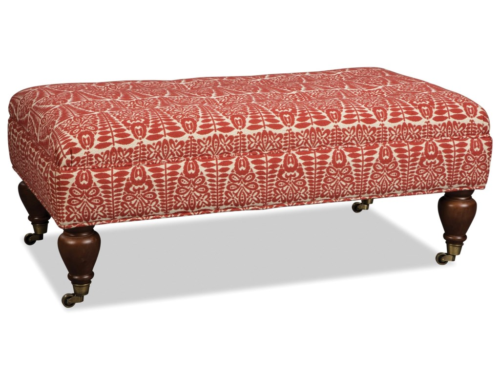 Craftmaster 075300Ottoman w/ Casters