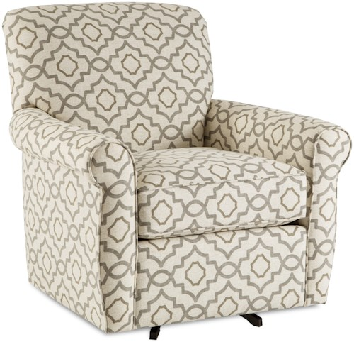 Craftmaster 075610-075710 Casual Swivel Glider Chair