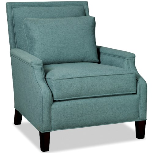 Hickory Craft 076310 Transitional Chair with Tailored Design and Kidney Pillow