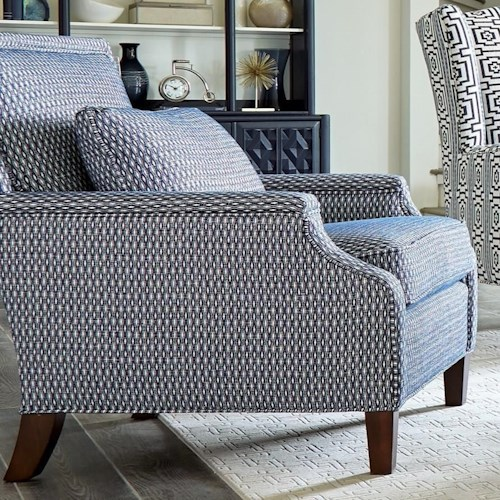 Craftmaster 076310 Transitional Chair with Tailored Design and Kidney Pillow
