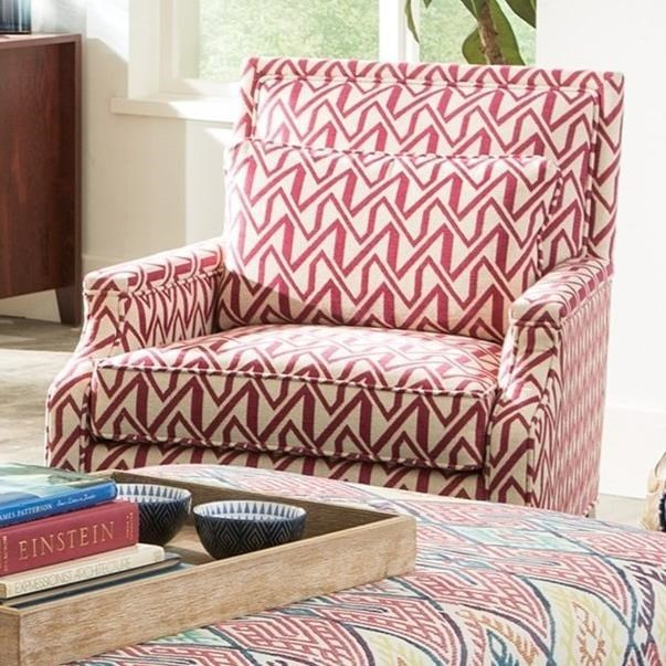 Craftmaster 076310 Transitional Chair with Tailored Design and ...