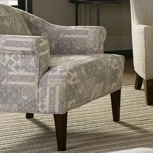 Craftmaster 077710 Transitional Accent Chair with Tall Rolled Arms