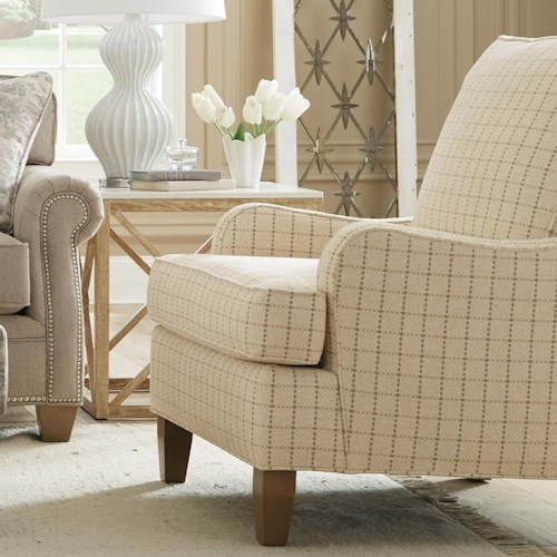 Craftmaster 080410 Transitional Chair with Tapered Legs
