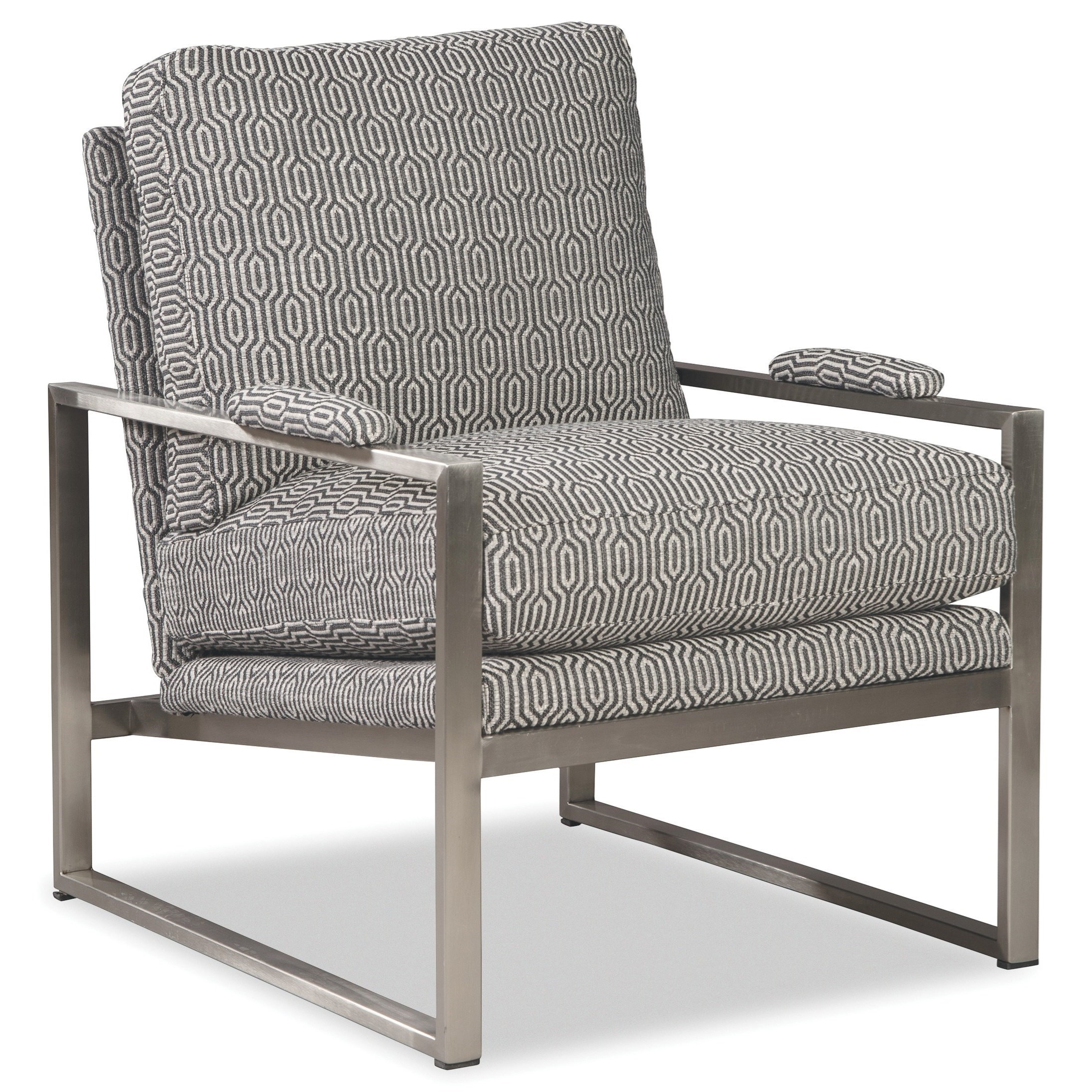 Contemporary Chair with Soft Nickel Arms