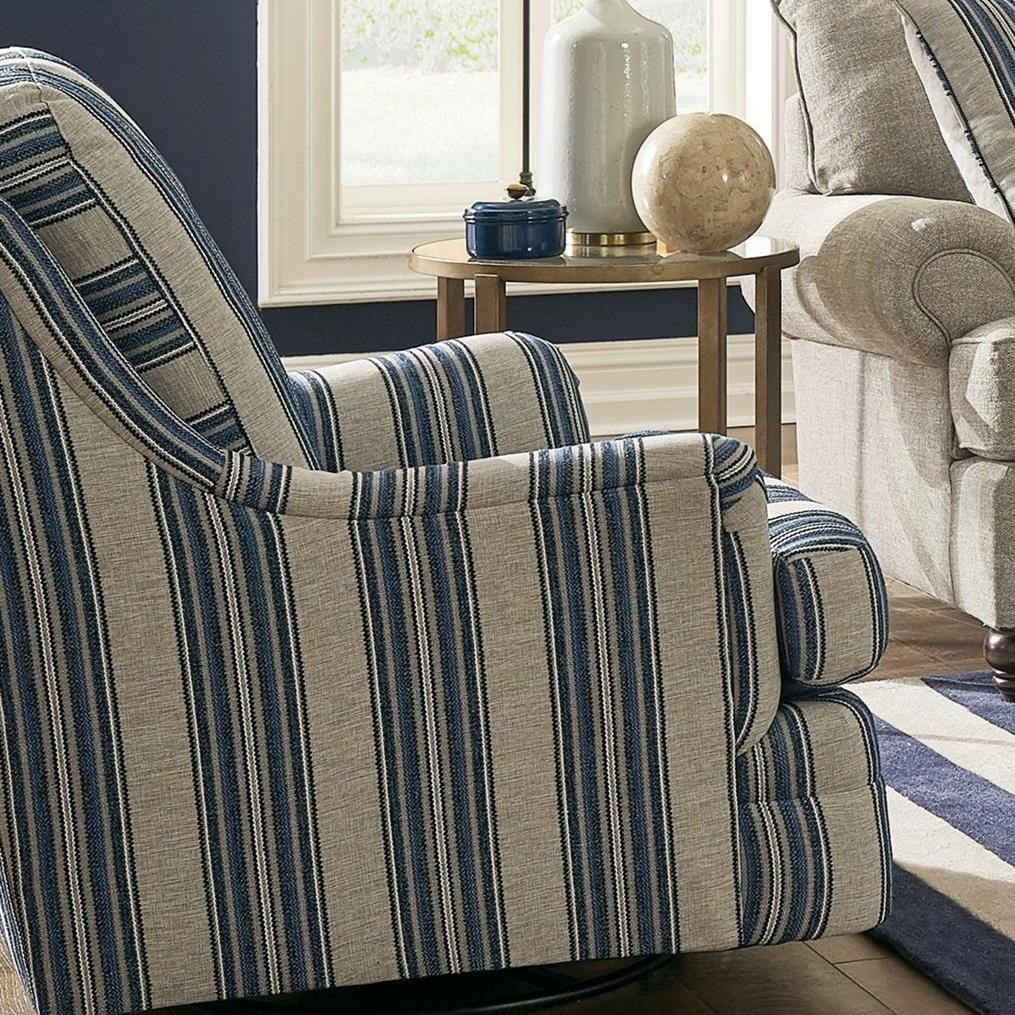 Transitional Swivel Glide Chair