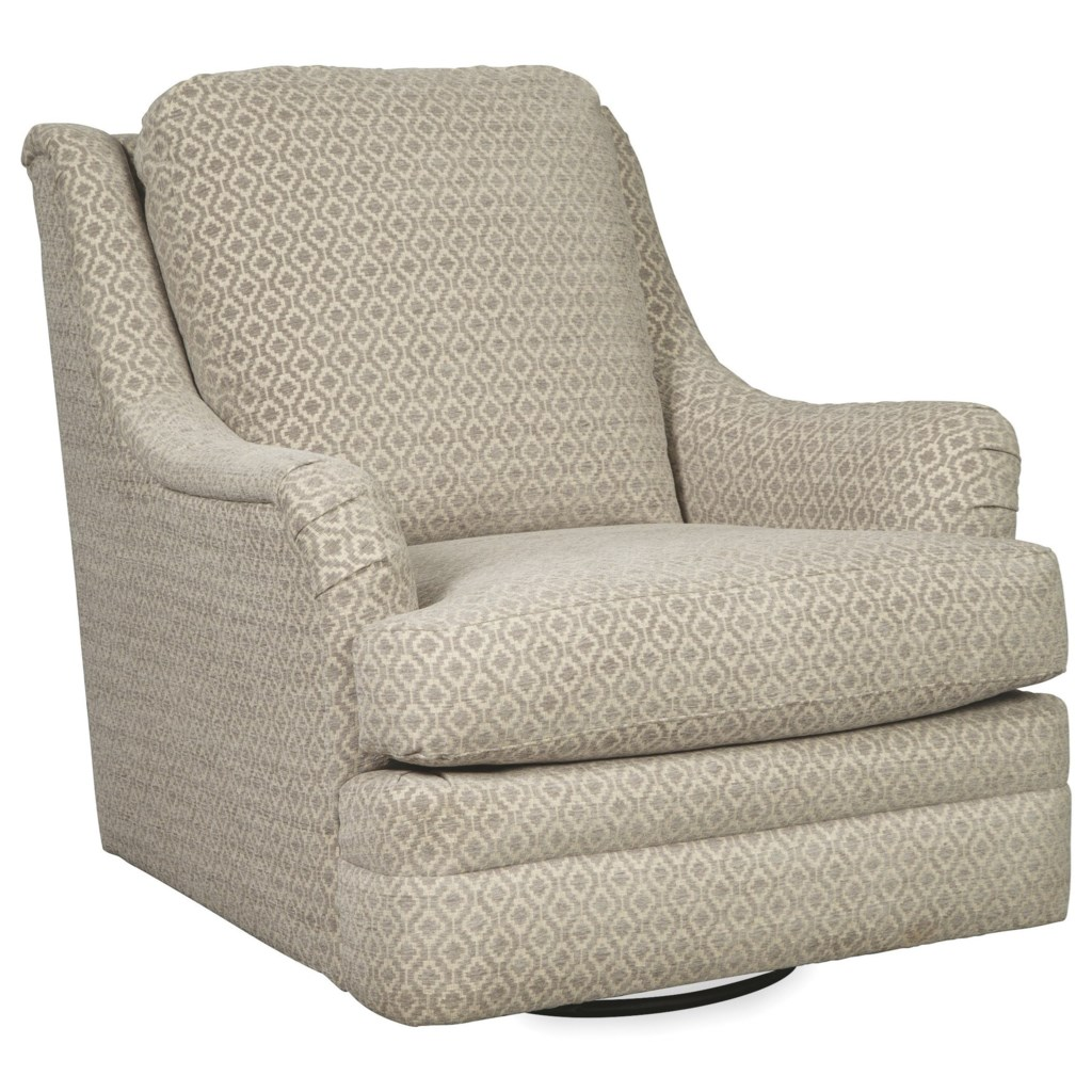 Craftmaster 084410 Transitional Swivel Glide Chair Turk Furniture