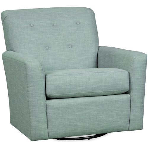 Craftmaster 085410SG-085510SC Casual Swivel Chair with Tufted Back