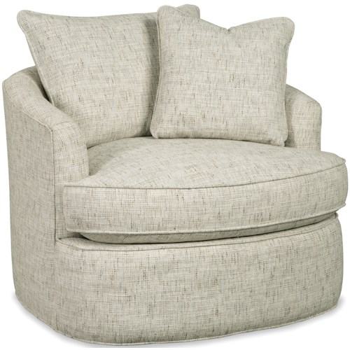 Craftmaster 085710 Contemporary Swivel Chair with Blend Down Cushion