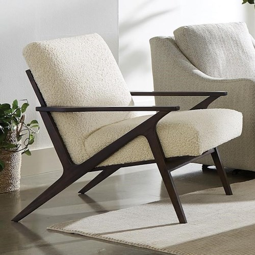 Craftmaster 085910 Contemporary Chair with Wood Frame