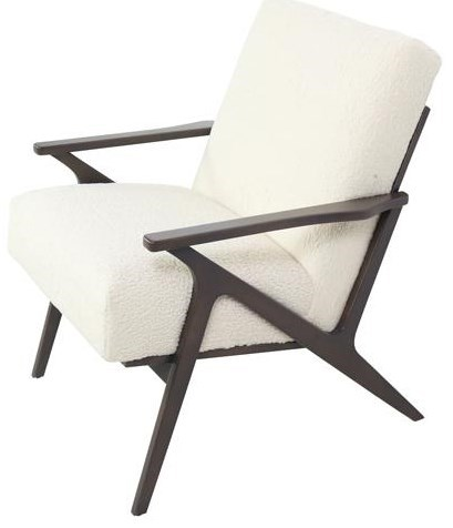 Contemporary Chair with Wood Frame