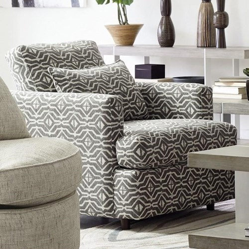 Craftmaster 086 Chair Contemporary Accent Chair with Tall Track Arms