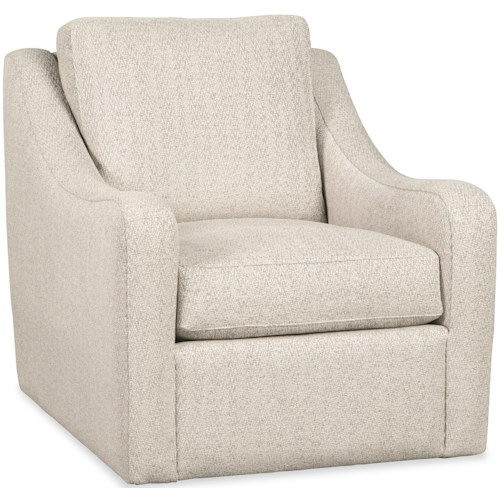 Craftmaster 087 Chairs Casual Swivel Chair with Rounded Track Arms