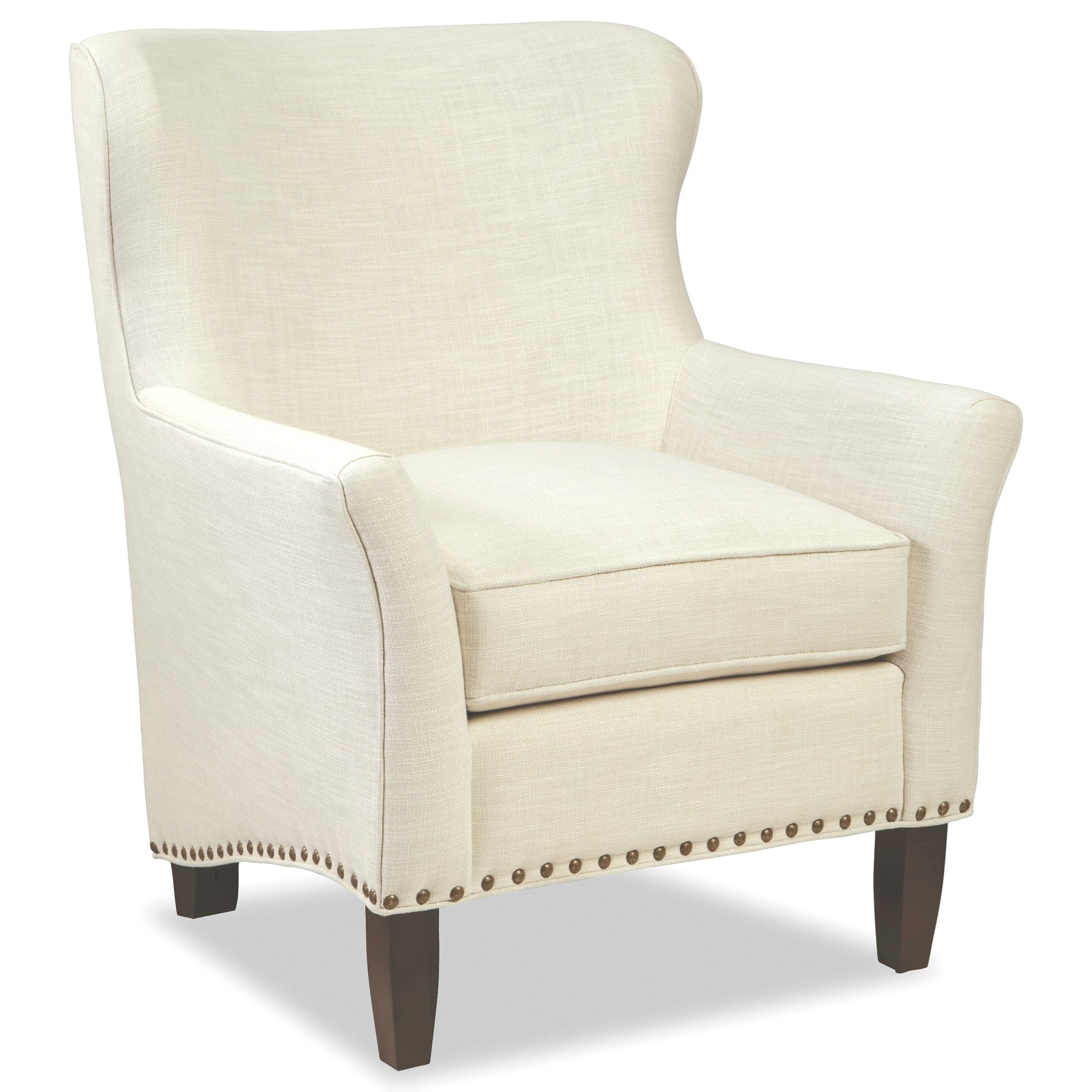 Transitional Accent Chair with Nailheads