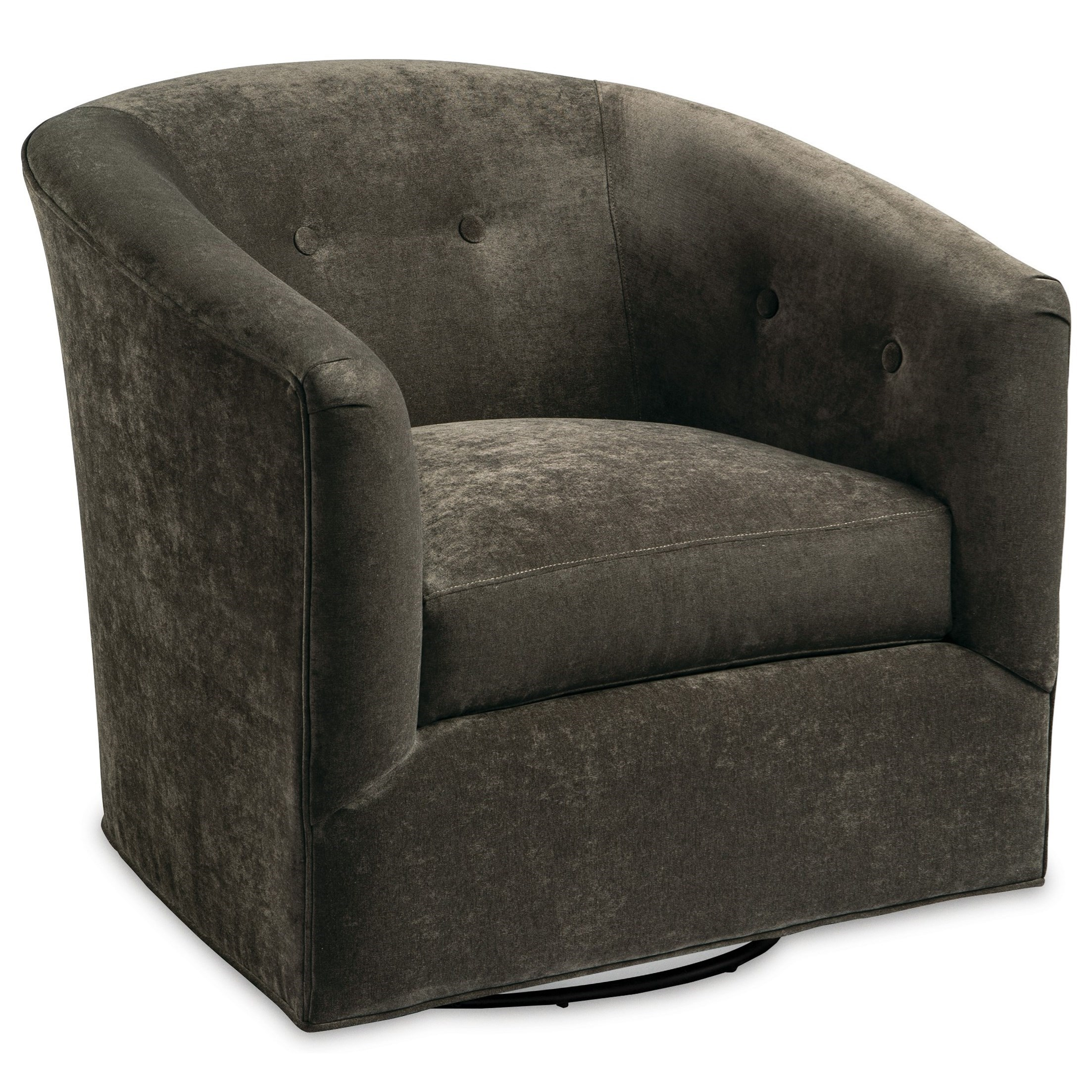 Contemporary Swivel Chair with Blend Down Cushion