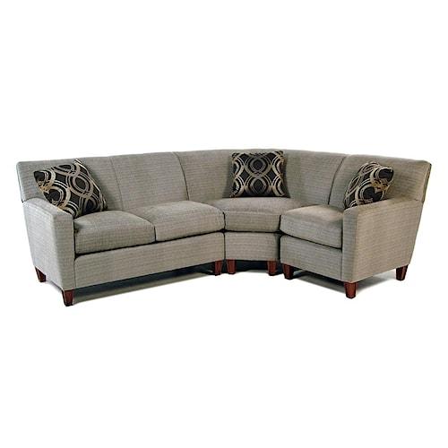 Cozy Life Samba Three Piece Sectional Sofa with LAF Loveseat