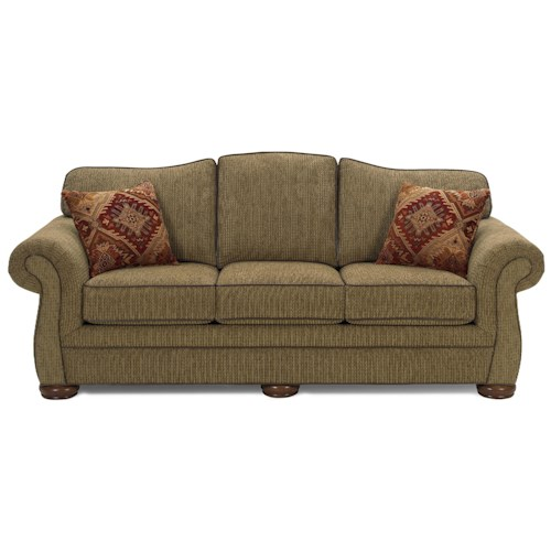 Craftmaster 2670 Traditional Sofa with Exposed Wood Feet