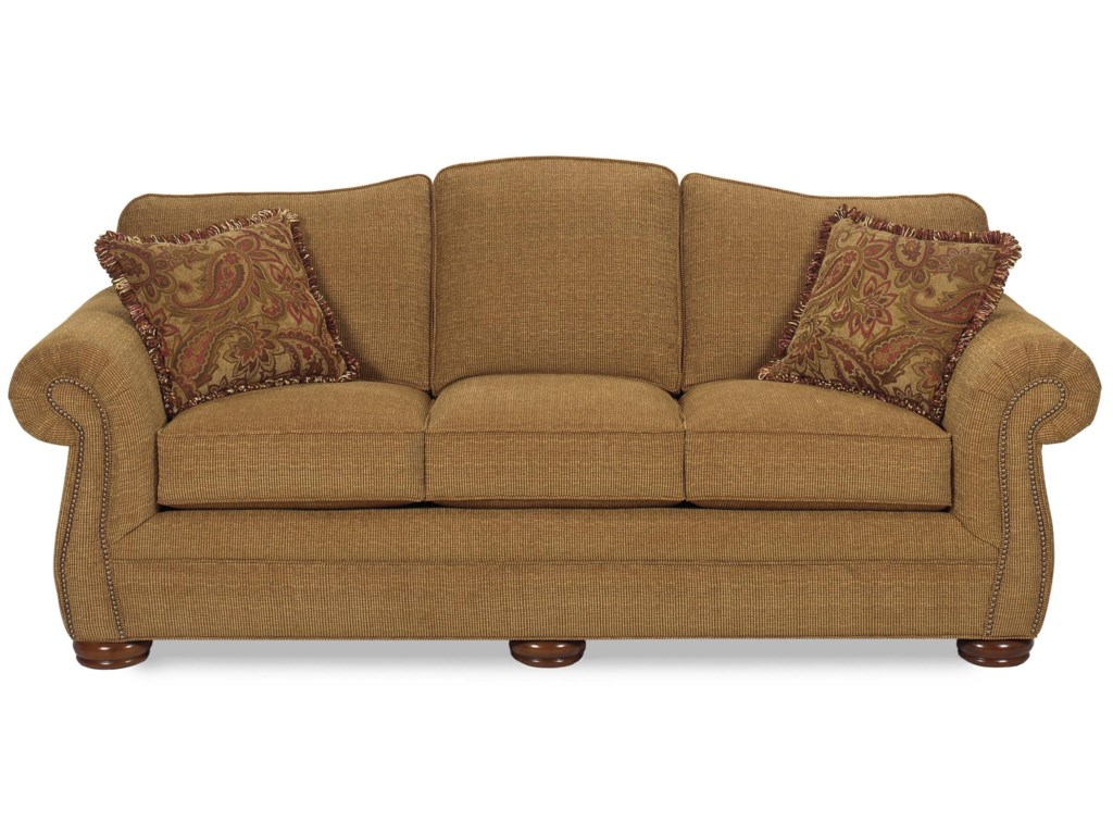 Hickory Craft 2675Sofa w/ Regular Brass Nails