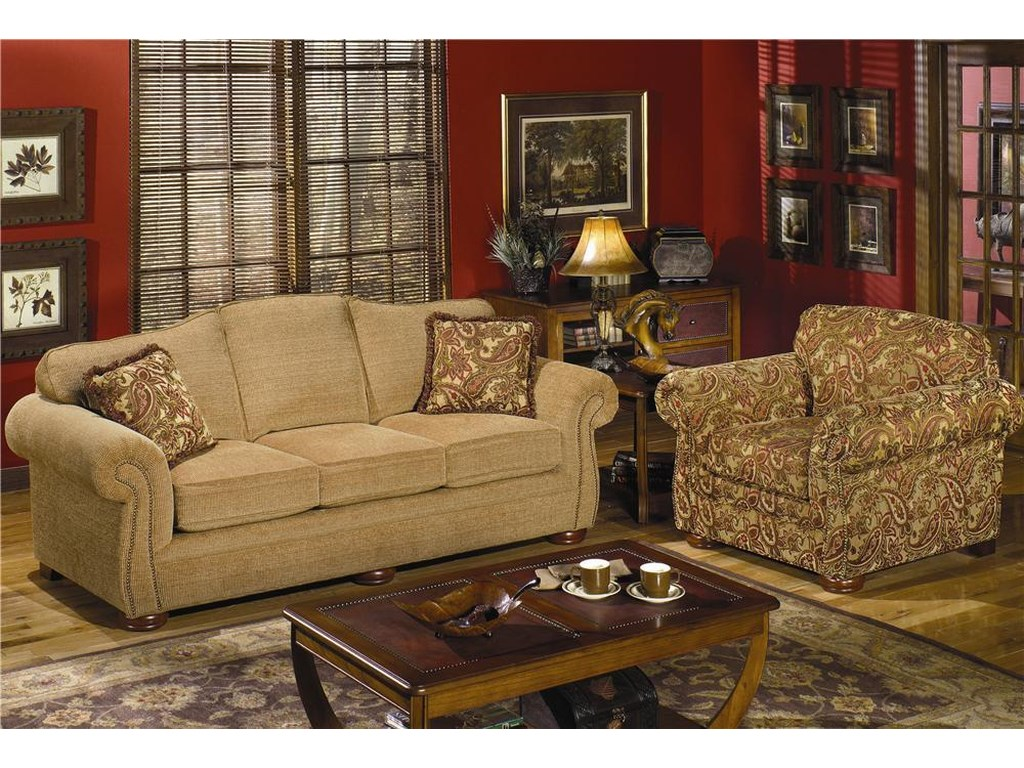 Craftmaster 2675Sofa w/ Regular Brass Nails